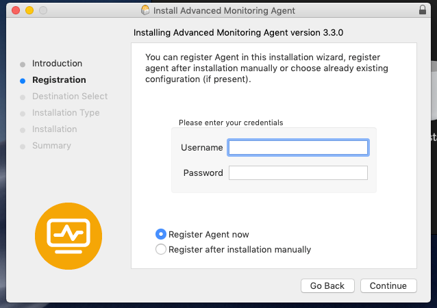 Go agent for mac
