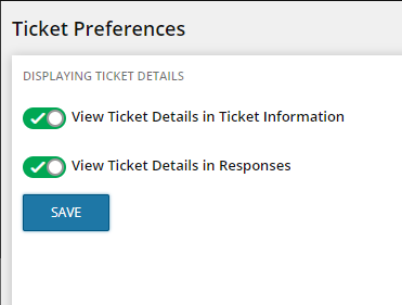 ticket preferences