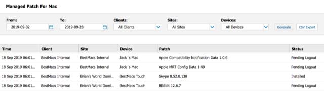 mac patch report 2