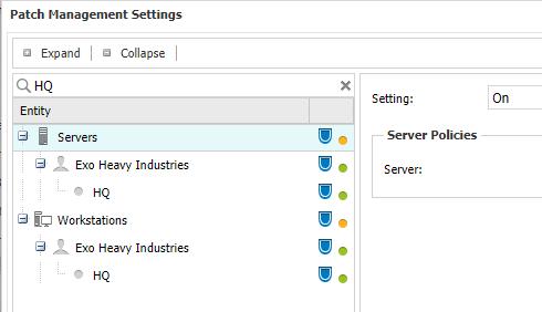 settings search
